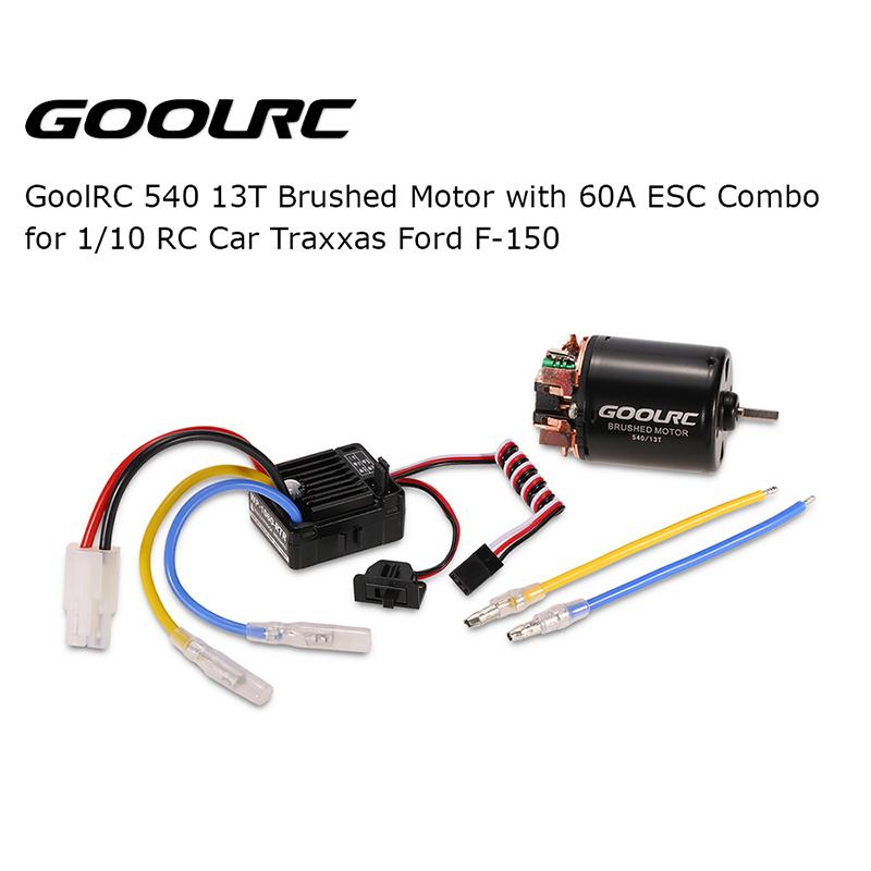 GoolRC 540 13T Brushed Motor w / 60A ESC für 1/10 Traxxas Ford f-150 ...