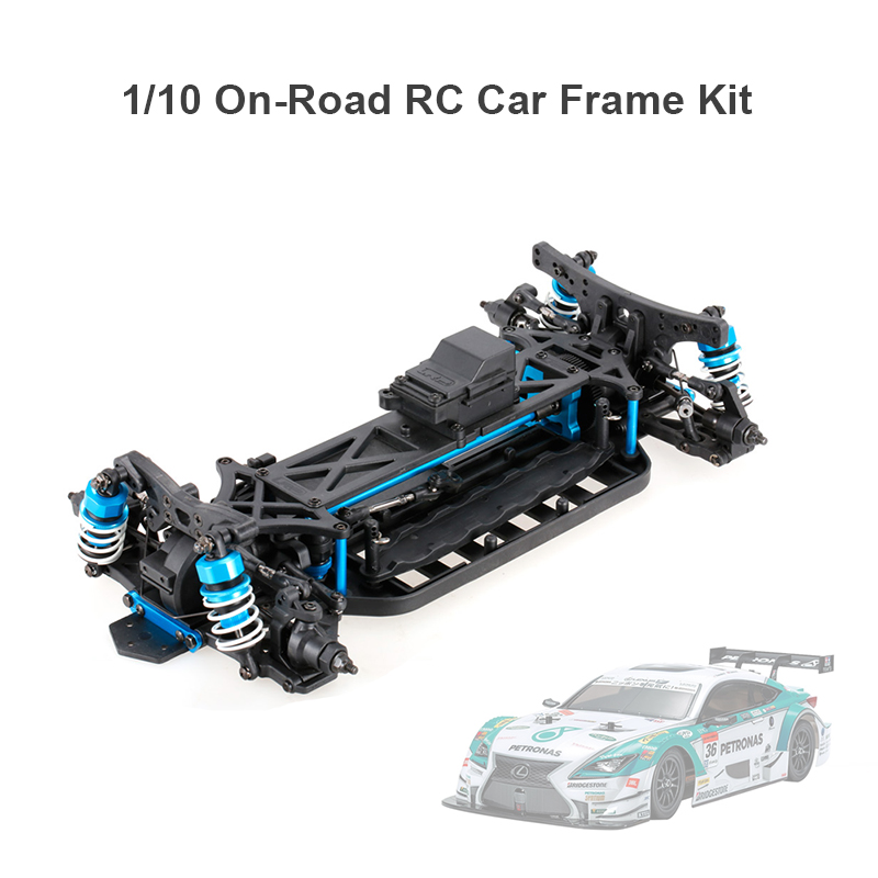 1/10 4WD Elektrisches On-Road Drift Racing Auto Rahmen Kit Chassis ...